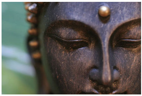 Photo tete statue zen